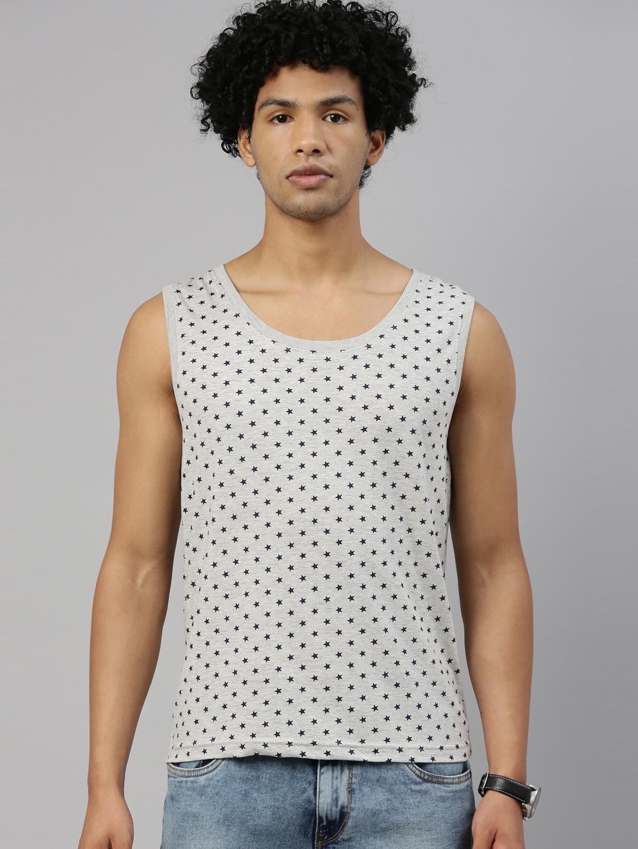 Kryptic | Kryptic Men Cotton Grey melange T-Shirts