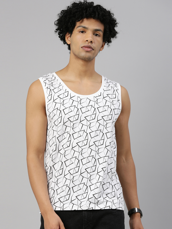 Kryptic | Kryptic Men Cotton White T-Shirts