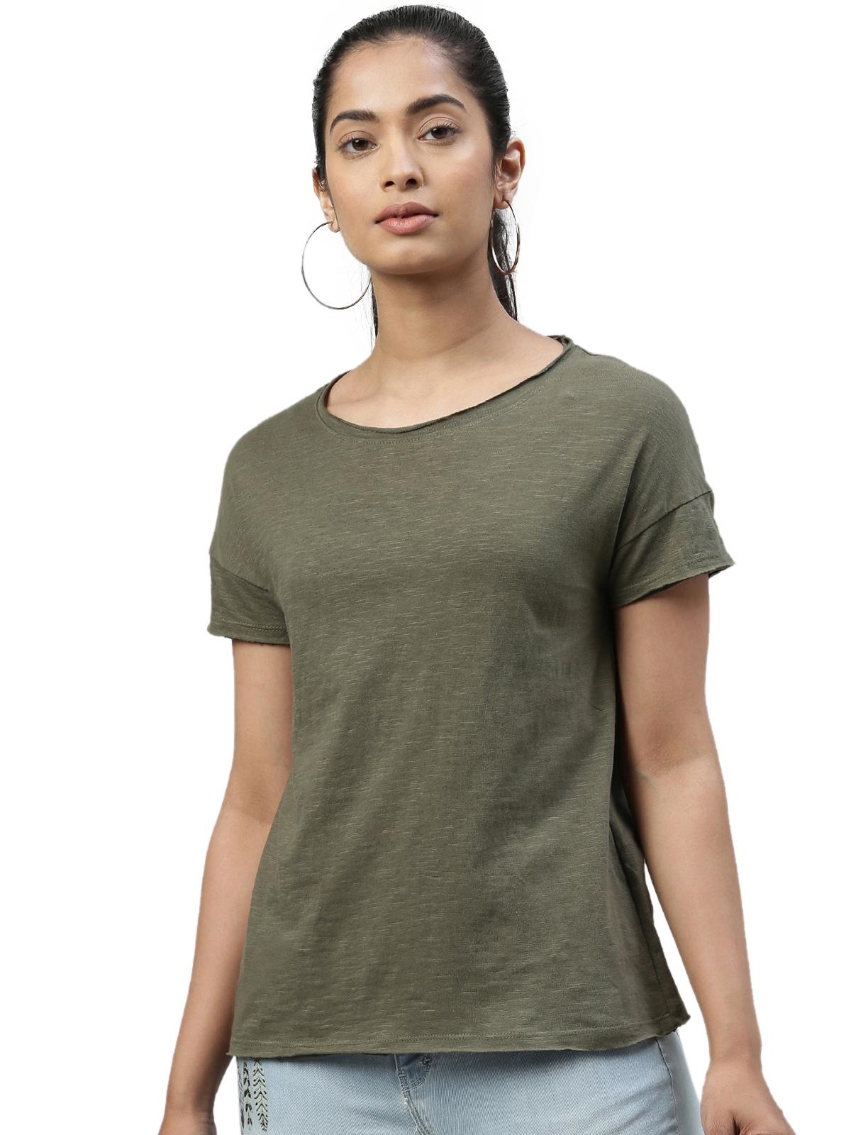 Kryptic   Kryptic womens 100% Cotton solid tshirt