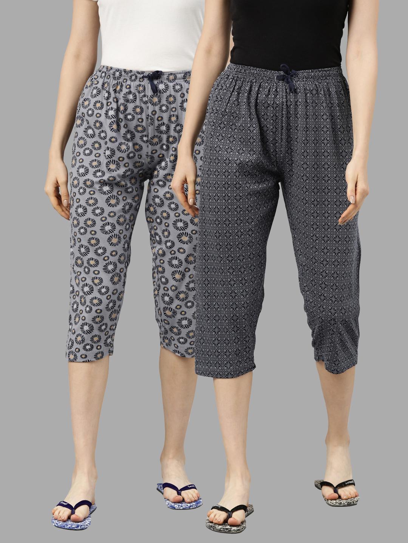 Kryptic | Kryptic Women Cotton Grey/Grey Capris