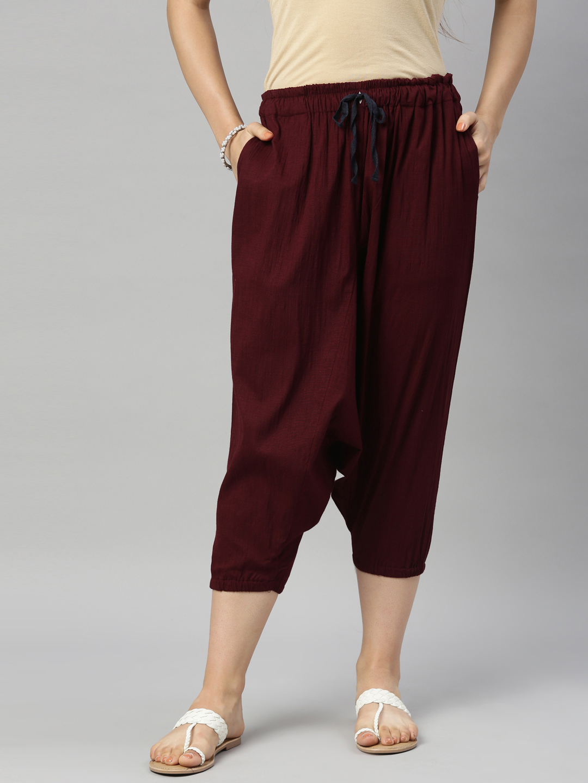 Kryptic | Kryptic Womens Viscose lycra stretch solid harem pant