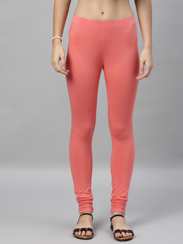 Kryptic | Kryptic womens cotton stretch solid Churidhar length legging