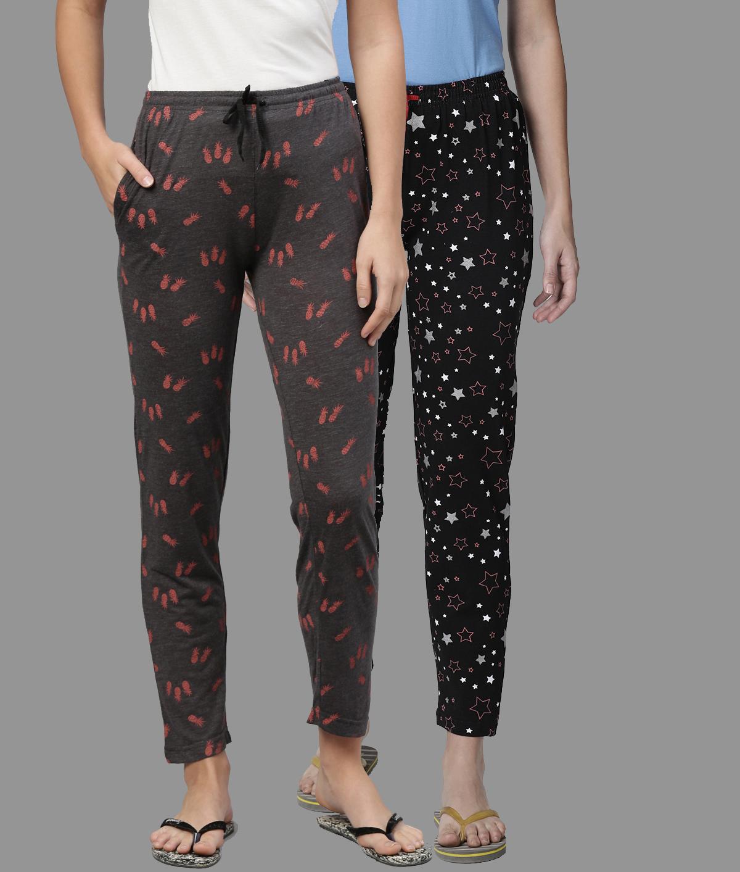 Kryptic | Kryptic Womens Cotton Melange/Navy Combo Pyjamas