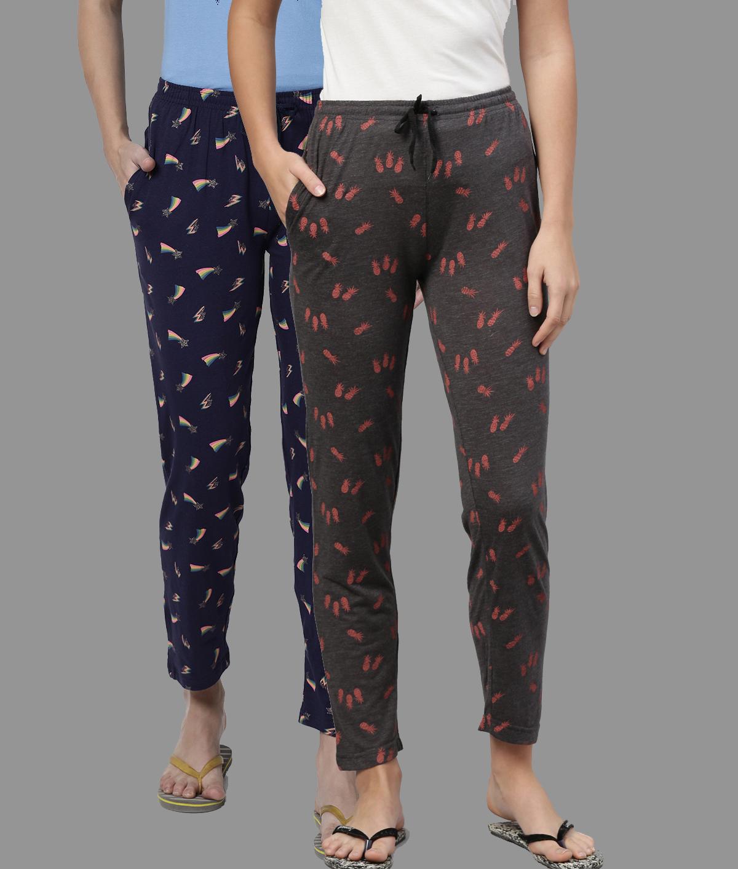 Kryptic | Kryptic Womens Cotton Melange/Blue Combo Pyjamas