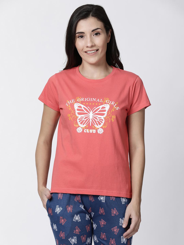 Kryptic   Kryptic womens Butterfly printed tshirt