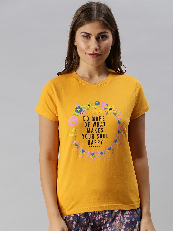 Kryptic | Kryptic womens 100% Cotton typography printed lounge tshirt