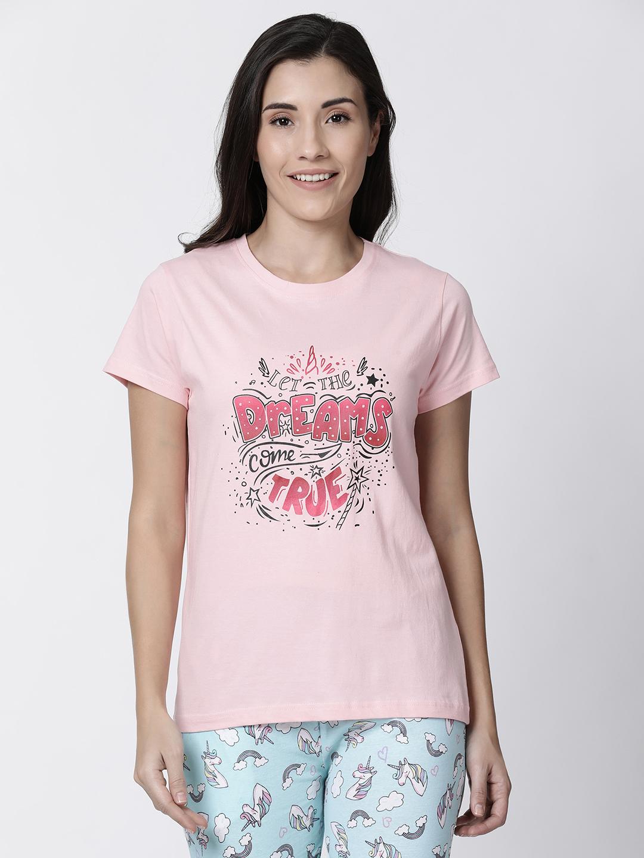 Kryptic | Kryptic womens unicorn typography printed tshirt