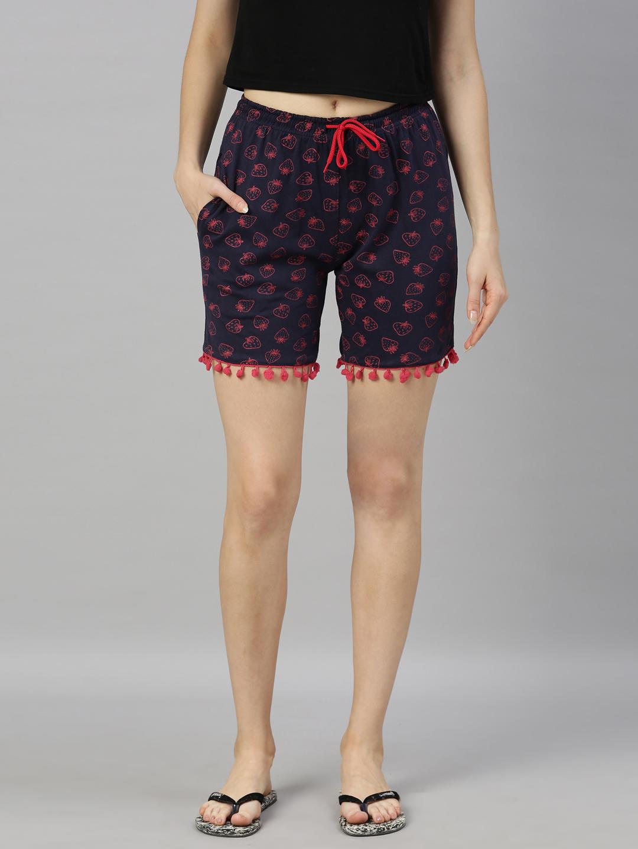 Kryptic | Kryptic womens 100% Cotton printed shorts