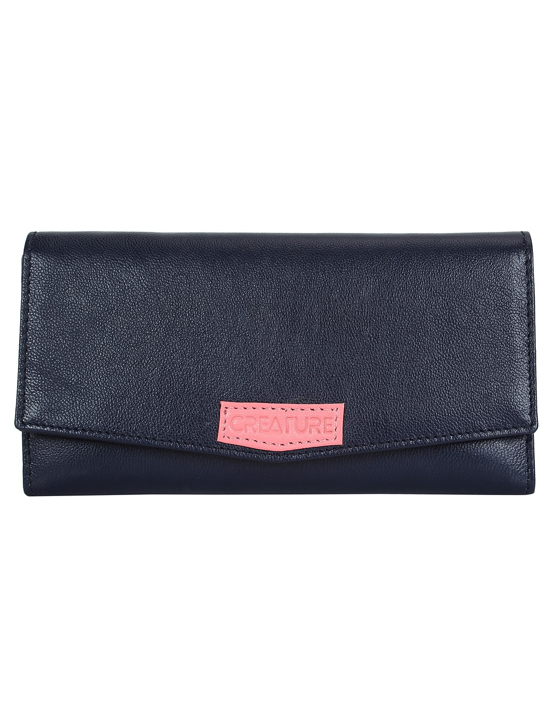 CREATURE | CREATURE Blue Stylish Genuine Leather Clutch for Women