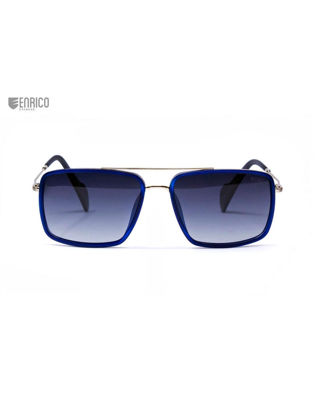 ENRICO | ENRICO Snapper UV Protected & Polarized Square Shape Sunglasses for Men ( Lens - Blue | Frame - Blue)