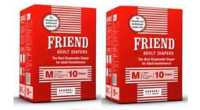 Nobel Hygiene | Nobel Hygiene Friend HOSPITAL Adult Diapers - M (10 Pieces x 2, Men & Women)