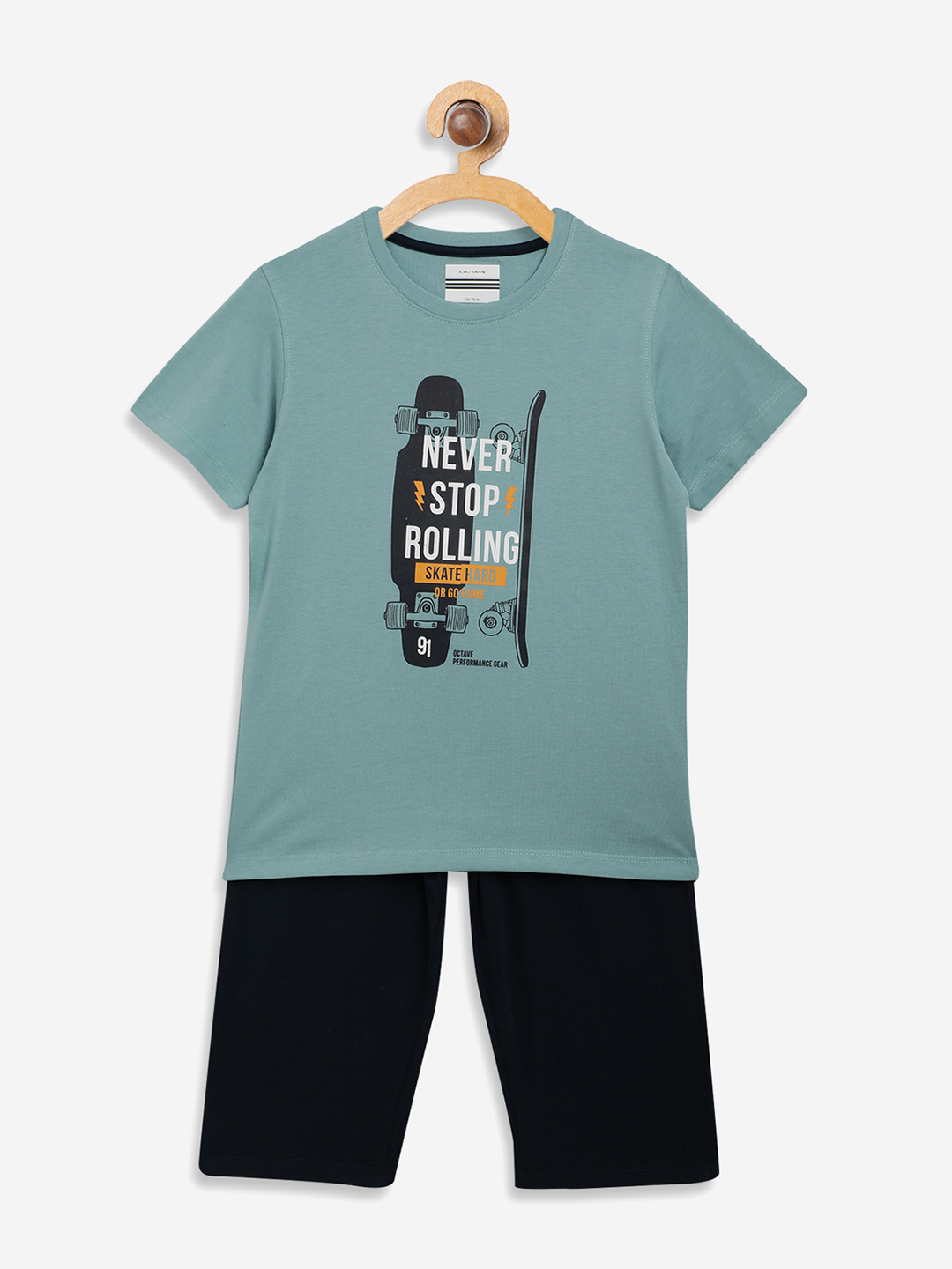 OCTAVE | Boys LIGHT TEAL Nightsuits
