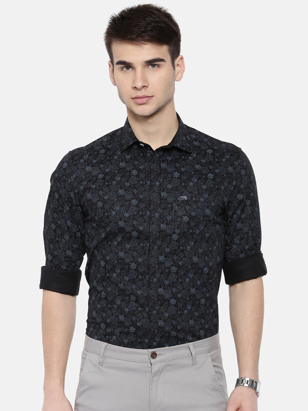 The Bear House   TBH CLASSIC FLORAL FORMAL SHIRT WITH SIDE PANELS.