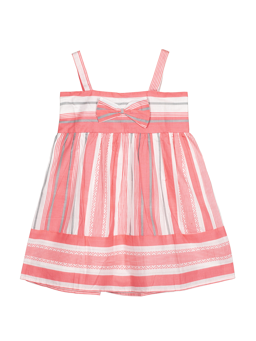 Budding Bees   Budding Bees Girls Striped Dress-Red