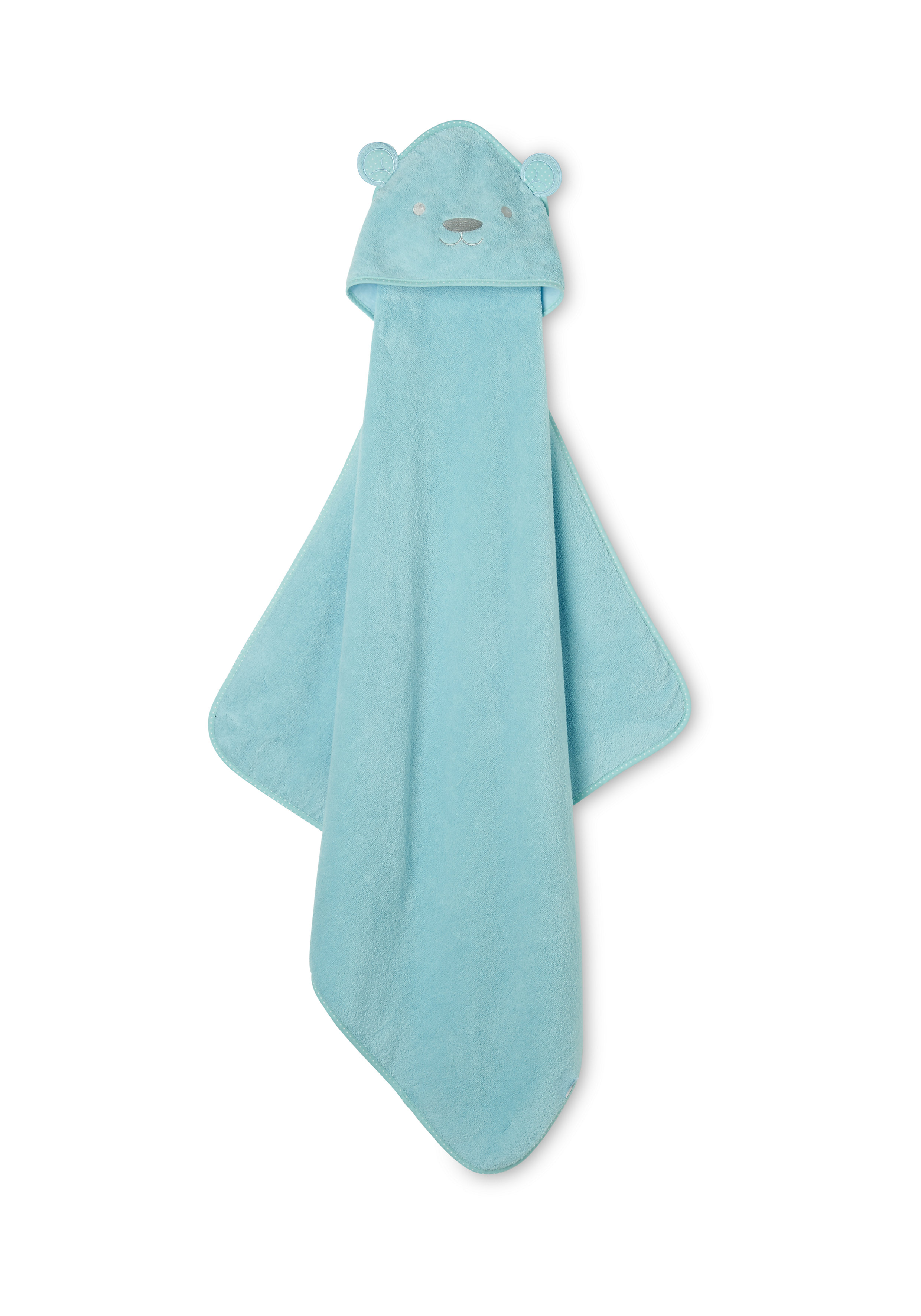 Mothercare   Mothercare Bear Luxury Cuddle N Dry Baby Towels Blue