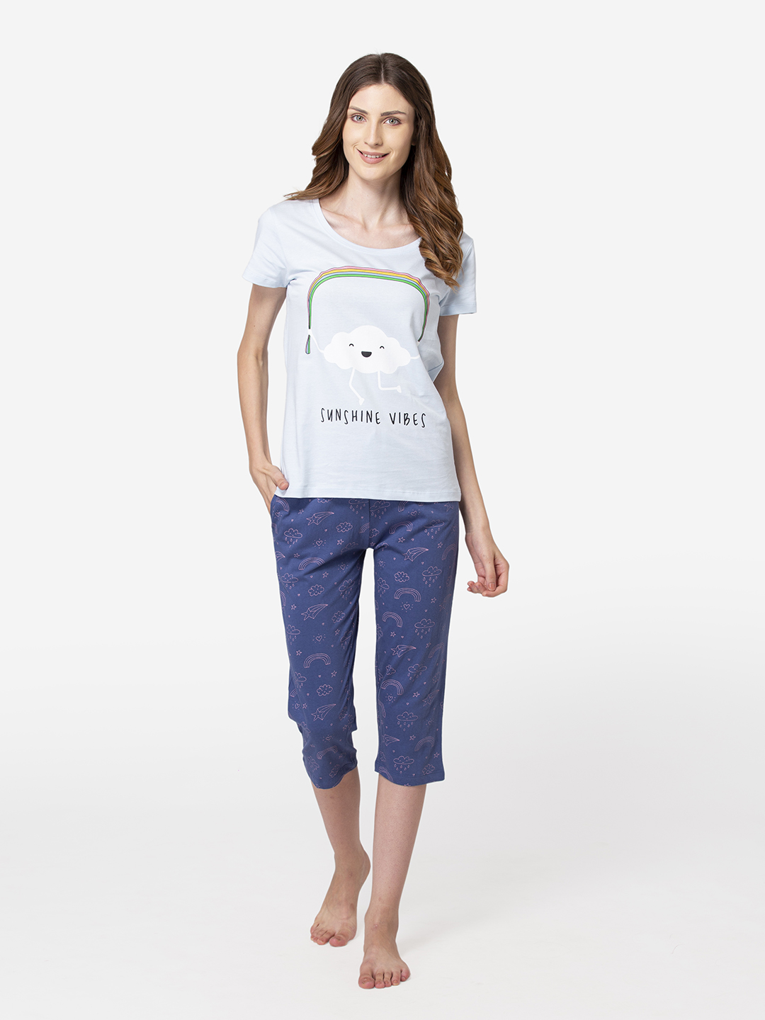 Lounge Dreams | LOUNGE DREAMS Womens Casual 100% Cotton Nightsuit