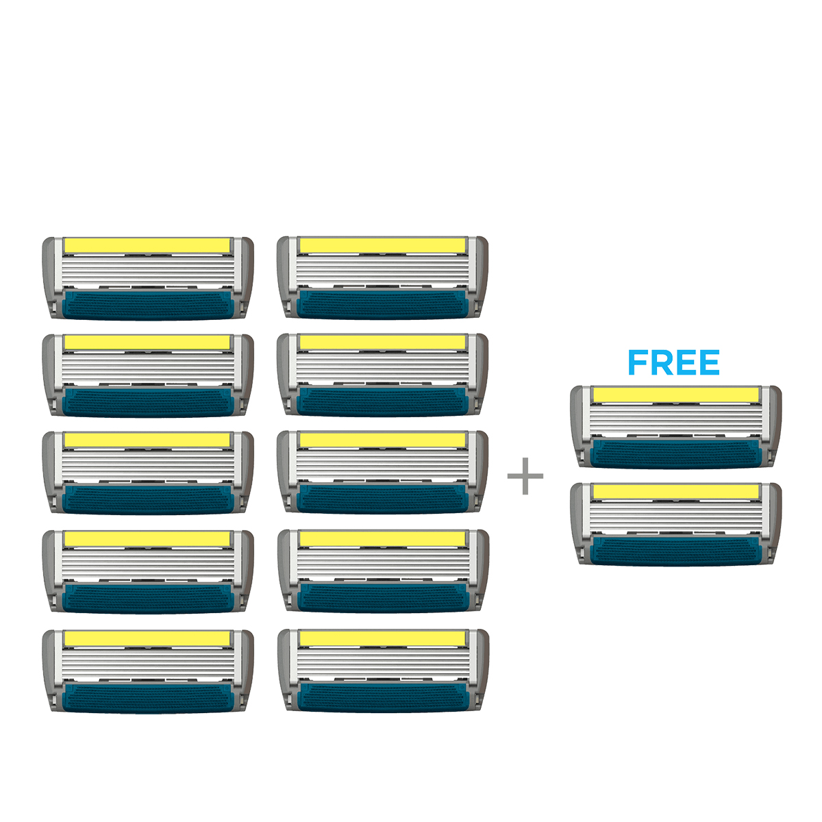LetsShave | LetsShave Pro 6 Plus Shaving Blades - Pack of 10 + 2 Razor Blades Free