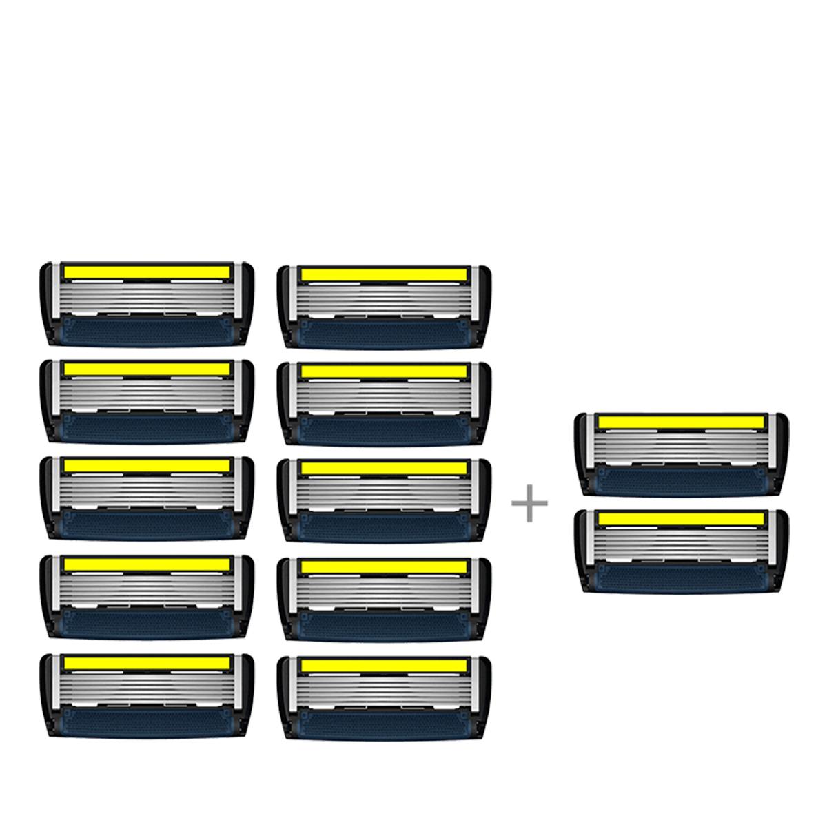 LetsShave | LetsShave Pro 6 Advance Shaving Blades - Pack of 10 + 2 Razor Blades Free