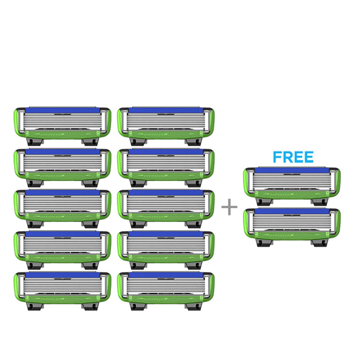 LetsShave | LetsShave Pro 6 Sensitive Shaving Blades - Pack of 10 + 2 Razor Blades Free