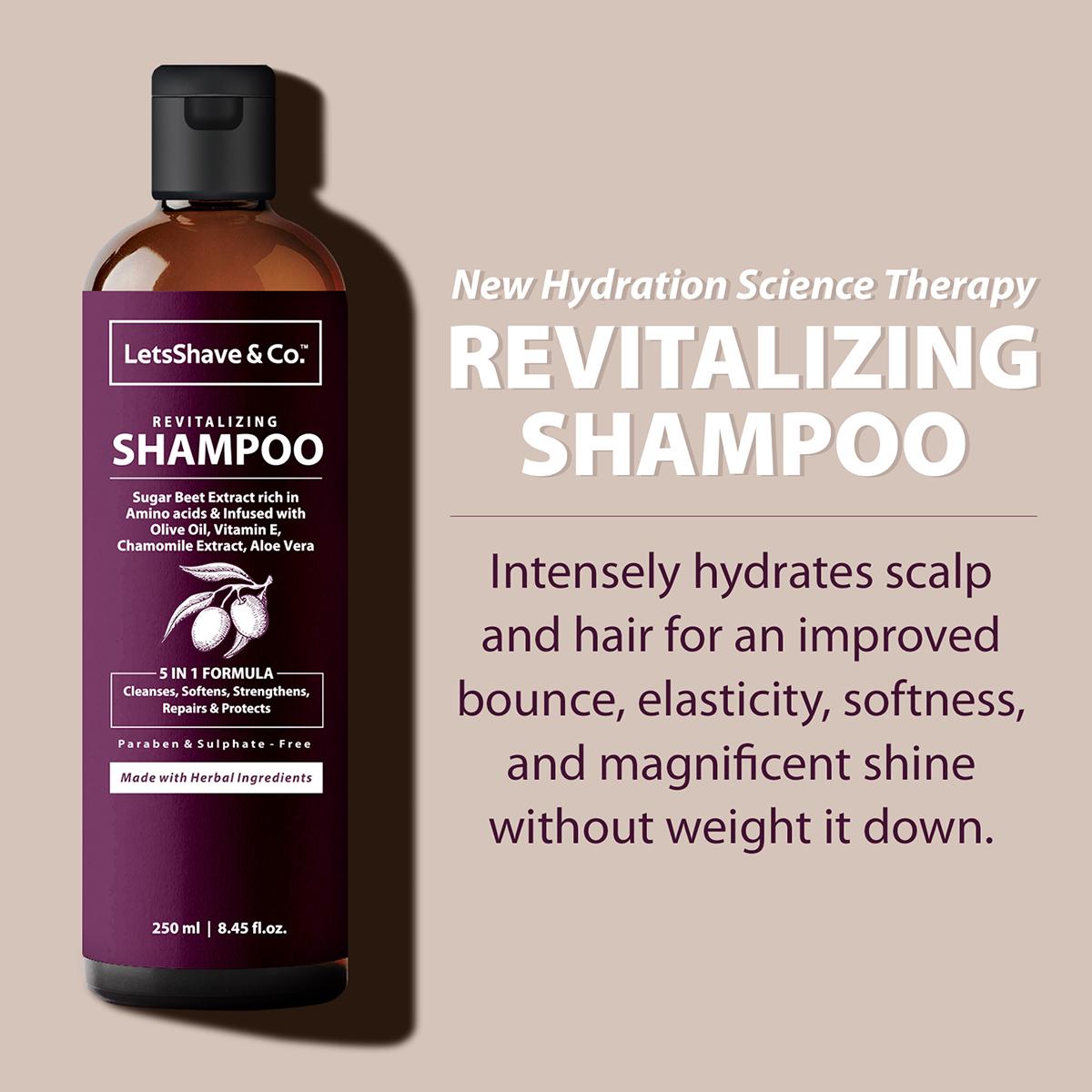 LetsShave   LetsShave Hydrating Shampoo - Smooth & Shiny Revitalization - 250 ml