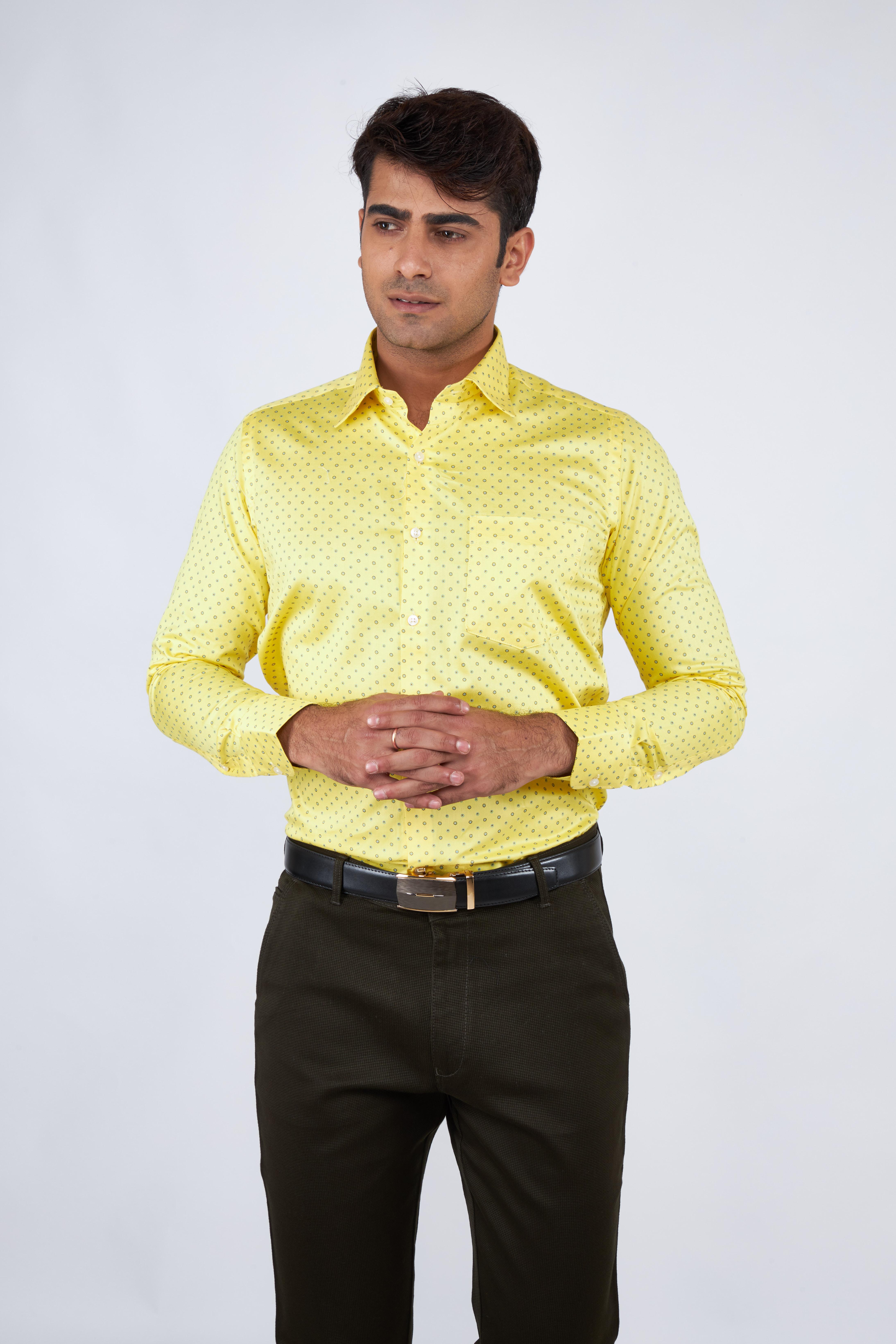 e-gen   Yellow Formal Shirt