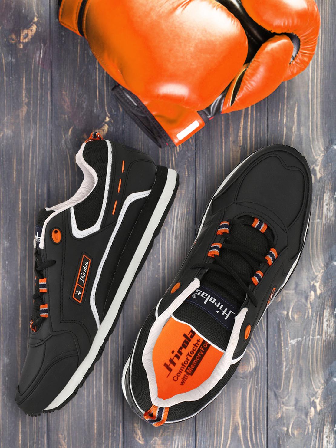 Hirolas   Hirolas Multi Sport Shock Absorbing Walking  Running Fitness Athletic Training Gym Sneaker Shoes - Black