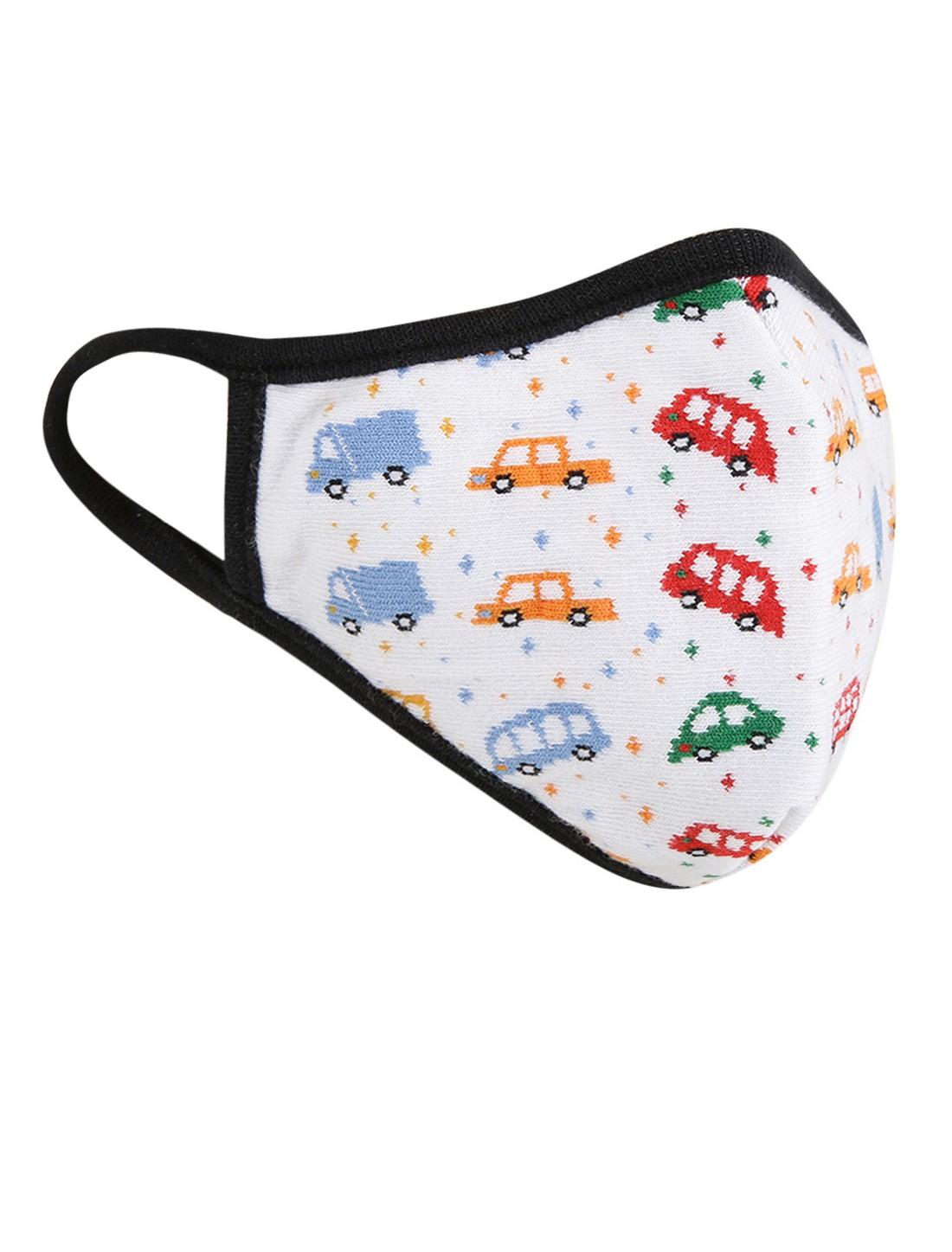 Soxytoes | Soxytoes White Bus Stylish Protective Super Safe Washable Knitted Cotton Kid's Face Mask