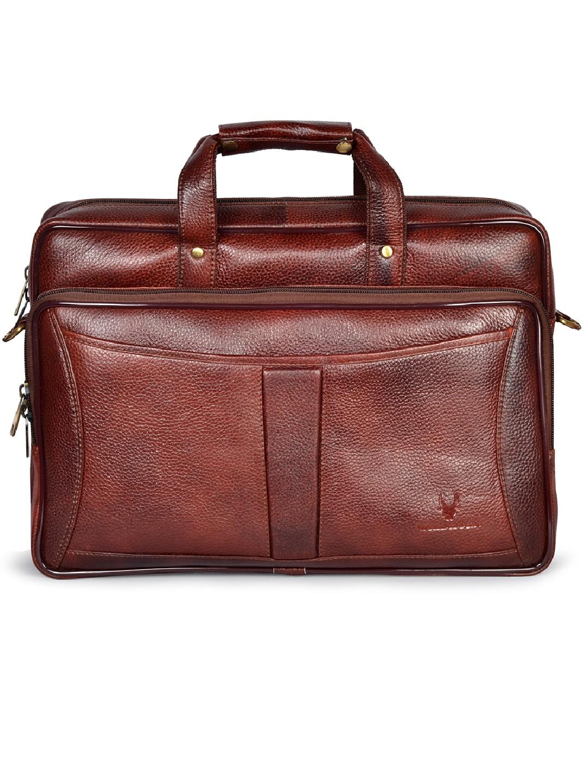 WildHorn | WildHorn 100% Genuine Leather Maroon Laptop Bag for Men