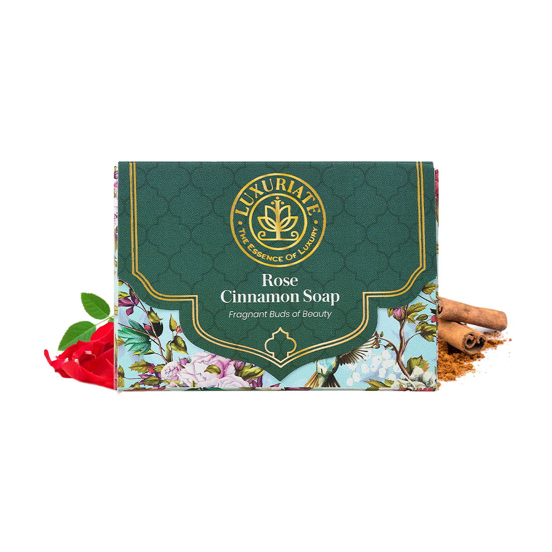 LUXURIATE | LUXURIATE Rose Cinnamon Fragnant Buds of Beauty Soap Bar for Men and Women,125 gm