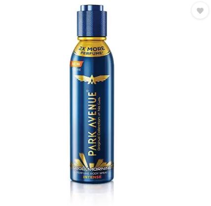 Park Avenue deodorant and perfume | PARK AVENUE Good Morning Intense Body Spray For Men