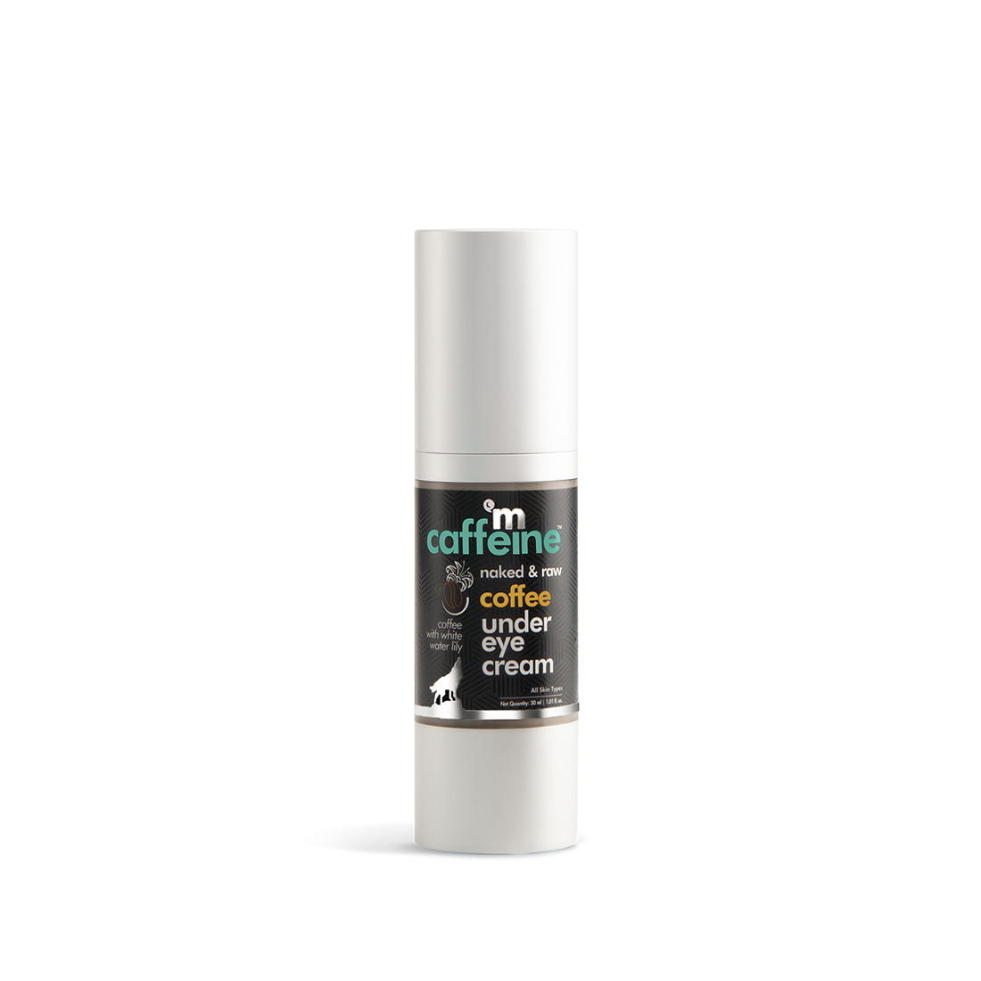 MCaffeine   mCaffeine Naked & Raw Coffee Under Eye Cream - Relieves Dark Circles (30 ml)