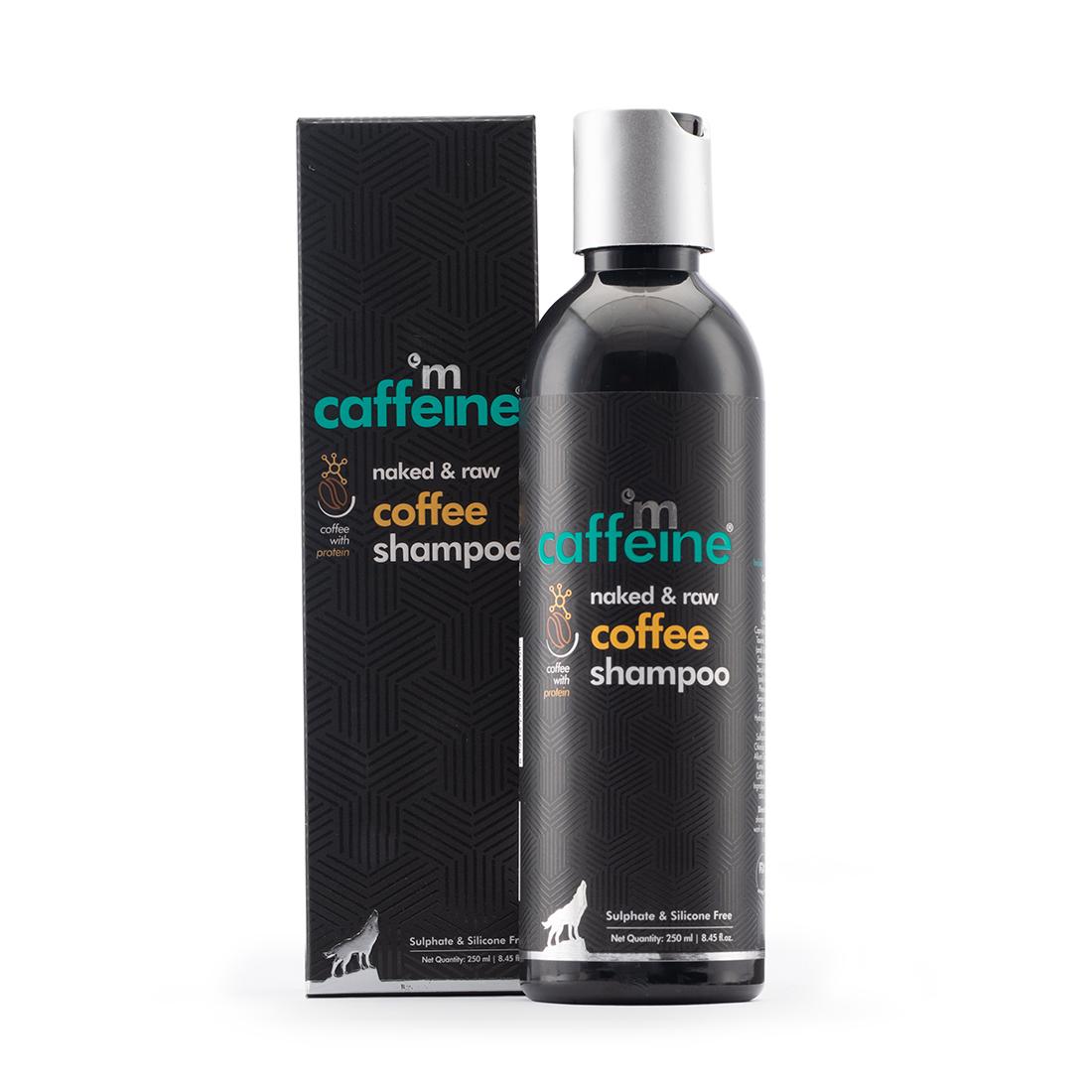 MCaffeine   mCaffeine Naked & Raw Coffee Shampoo for Hair Fall Control with Protein & Argan Oil (250 ml)