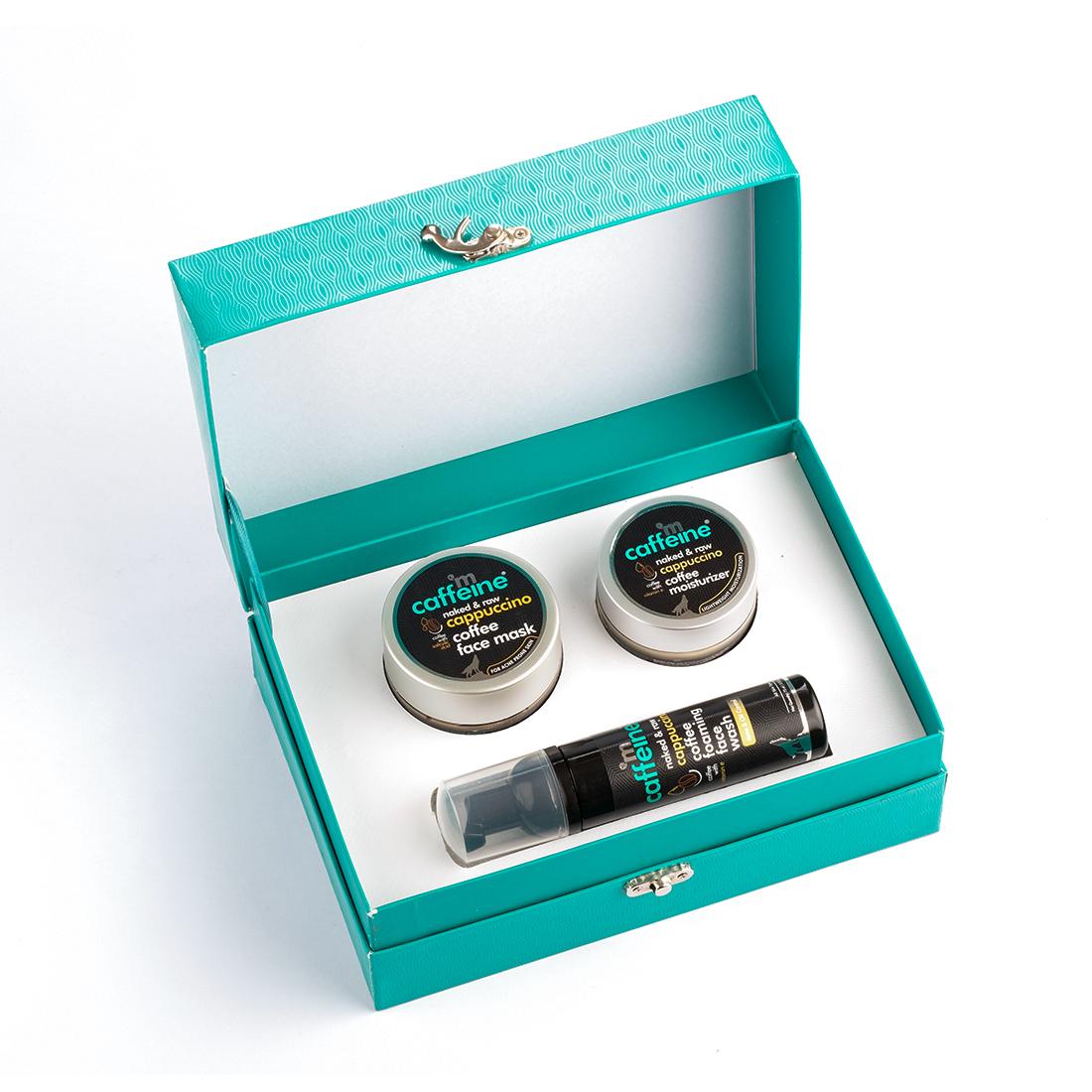 MCaffeine | mCaffeine Balanced Brew - Cappuccino Gift Kit | Face Mask, Face wash, Moisturizer