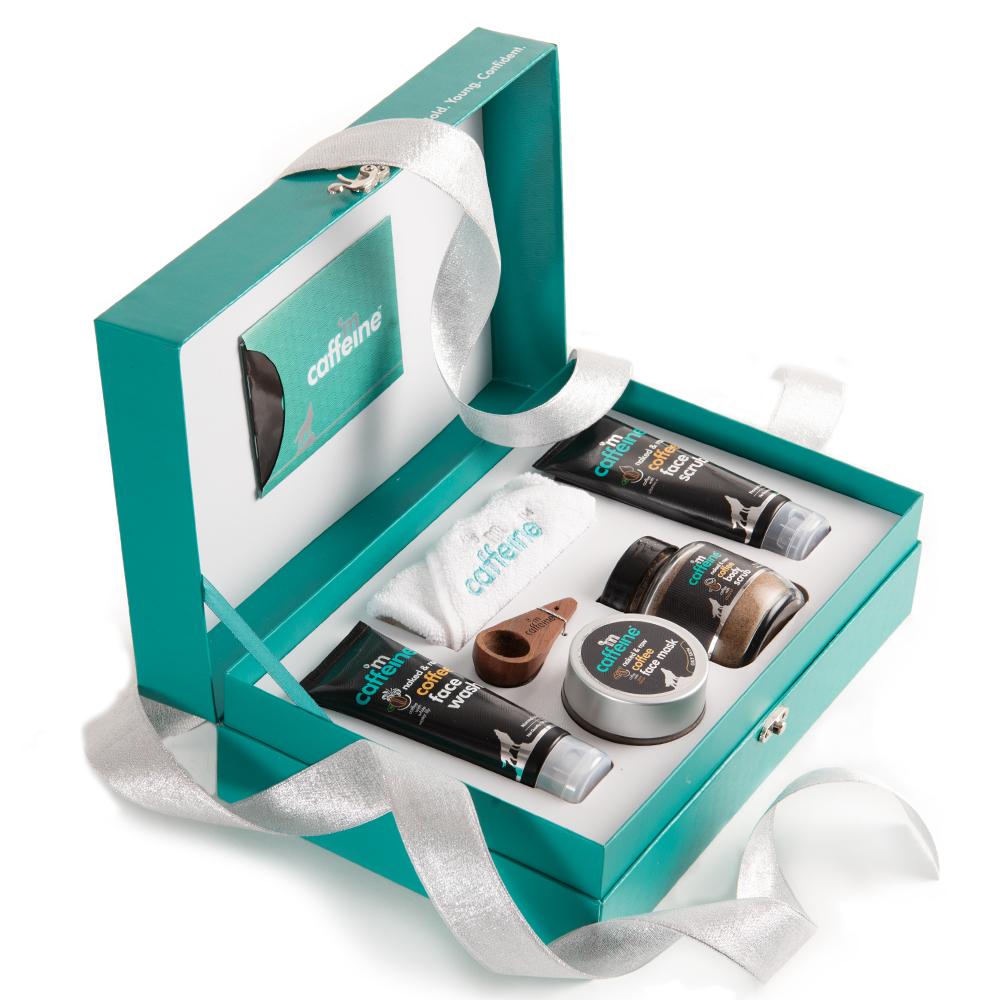 MCaffeine | mCaffeine Coffee Mood Skin Care Gift Kit | Face wash, Face Scrub, Face mask, Body Scrub