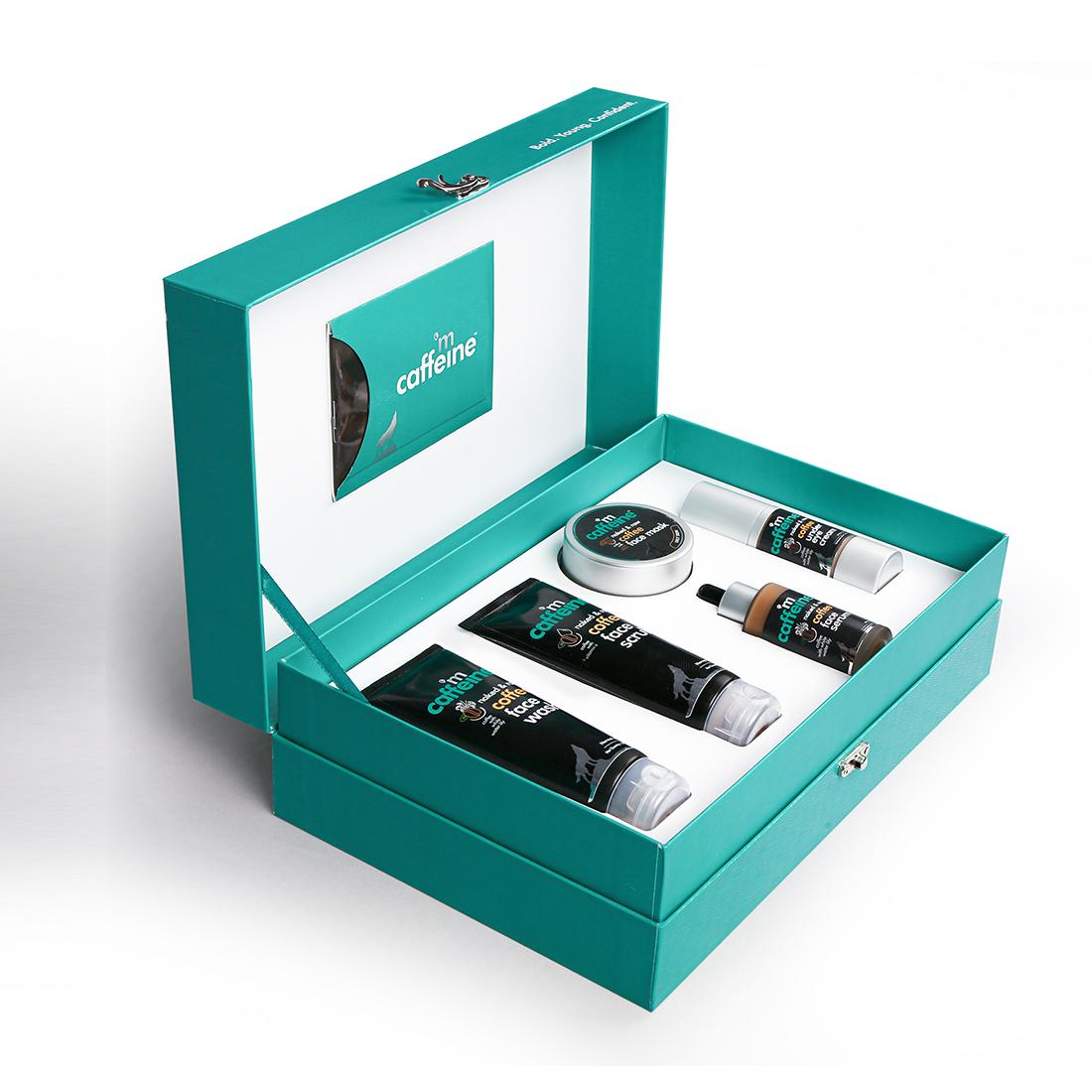 MCaffeine | mCaffeine Coffee Look Gift Kit | Face wash, Face scrub ,under Eye cream, Face Serum