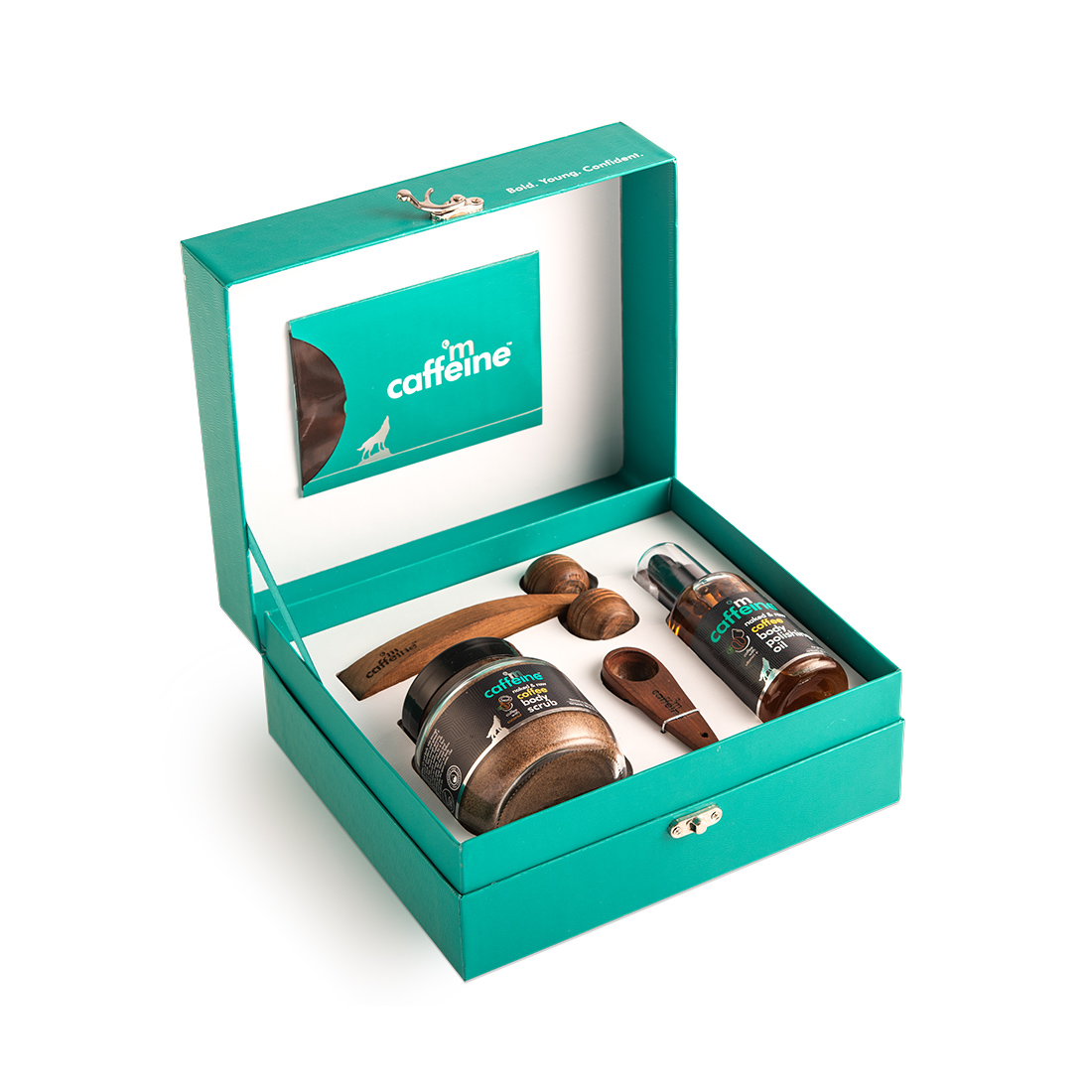 MCaffeine | mCaffeine Coffee De-Stress Skin Care Gift Kit | Body Scrub, Body Polishing oil