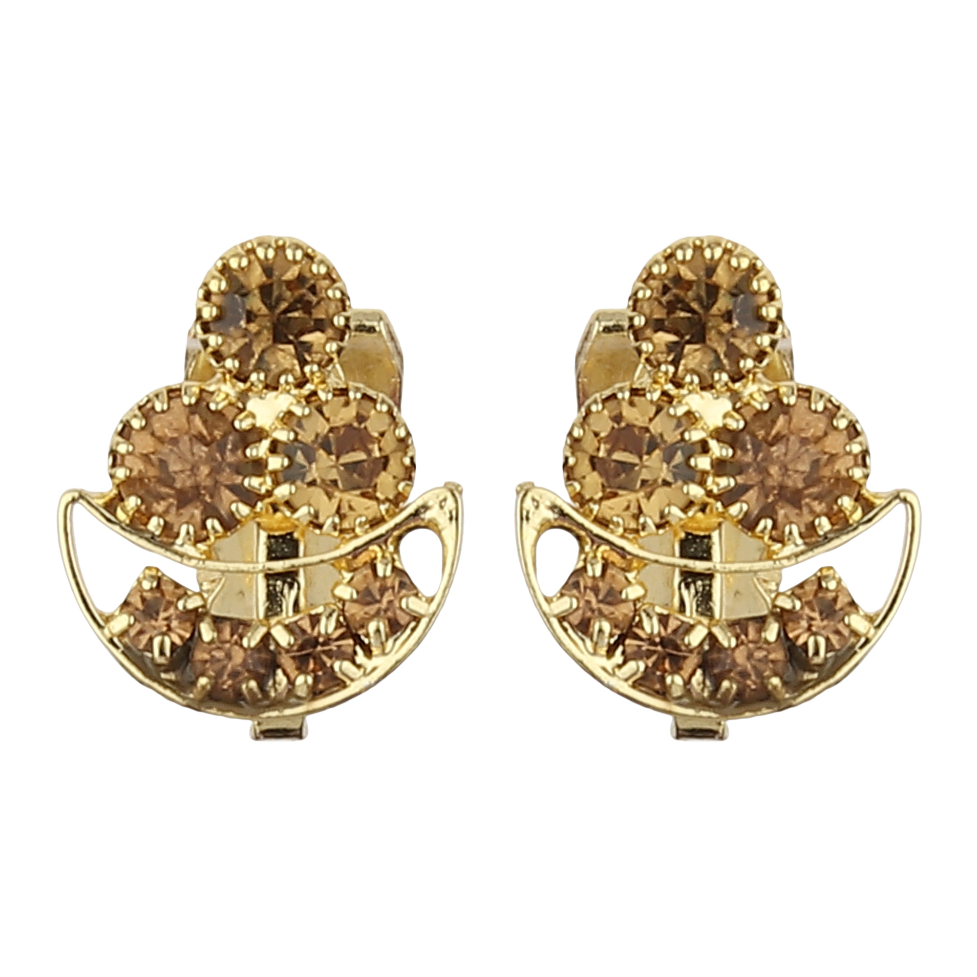 FirstBlush | FirstBlush Clip On Earrings for Non Piearced Ears for Women & Girls; Plating: Gold; Color: Gold; Size: 15 X 10mm; Wt.: 2gm. (MIEC104M099)