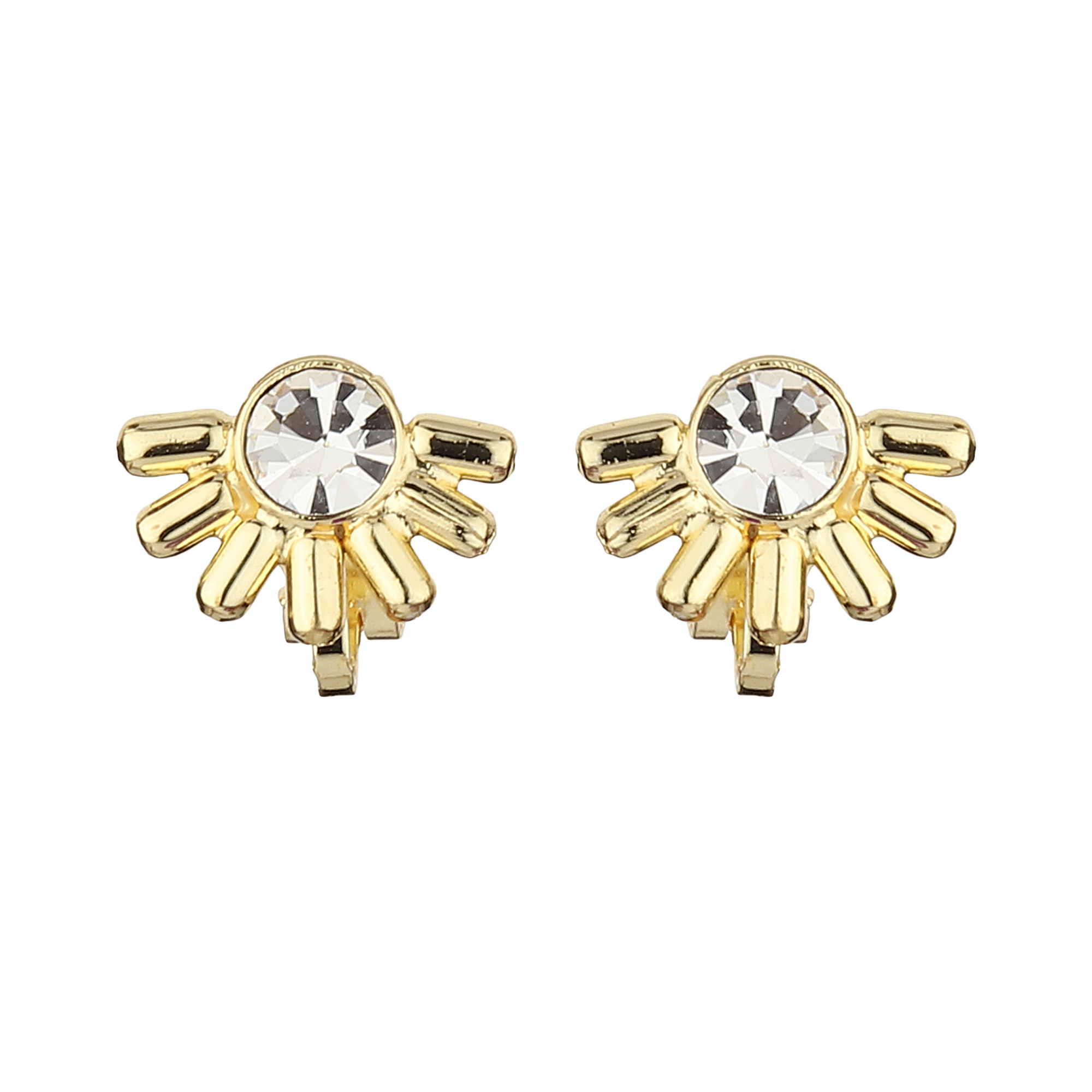 FirstBlush | FirstBlush Clip On Earrings for Non Piearced Ears for Women & Girls; Plating: Gold; Color: Gold; Size: 10 X 15mm; Wt.: 3gm. (MIEC104M108)