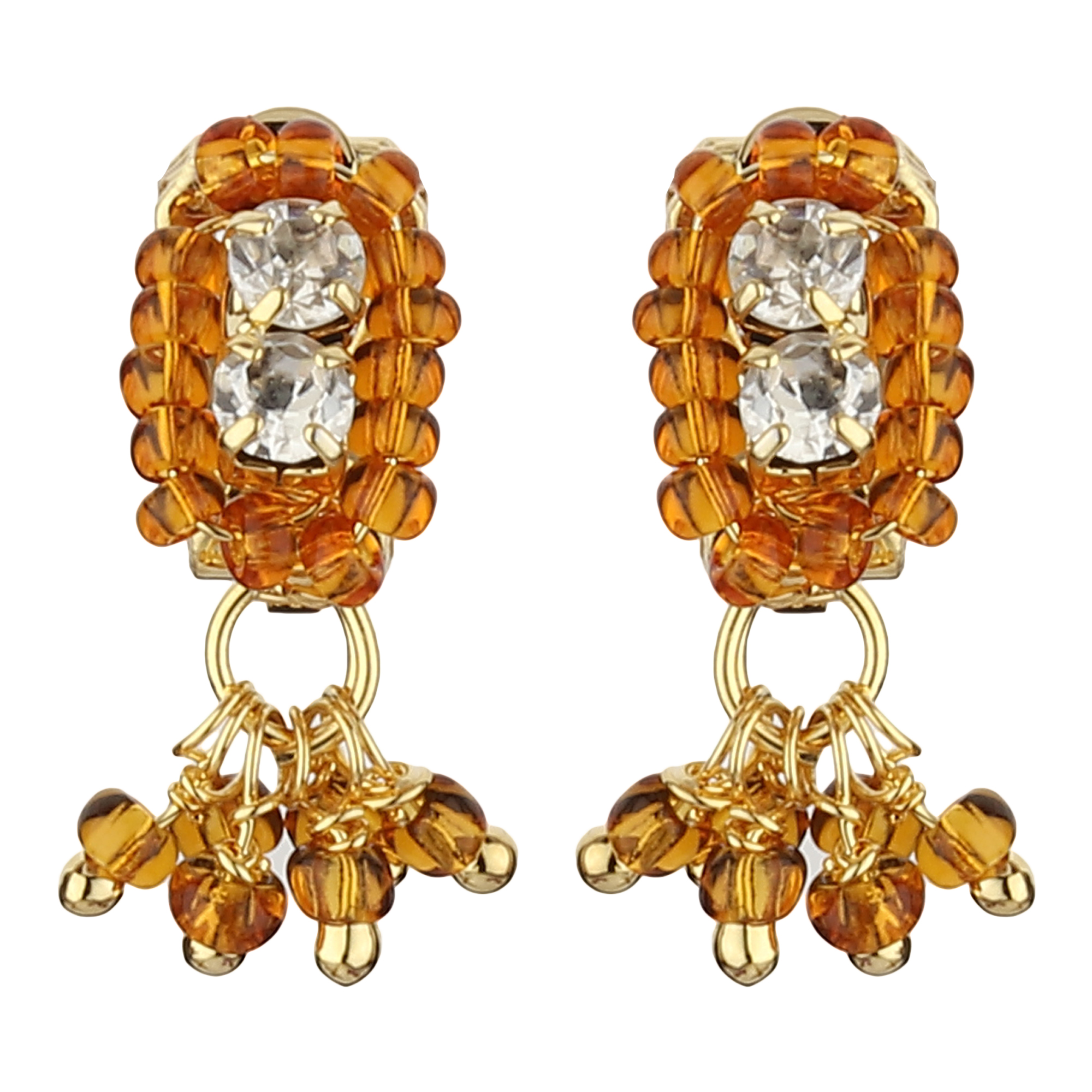 FirstBlush Clip On Earrings for Non Piearced Ears for Women & Girls; Plating: Gold; Color: Gold; Size: 20 X 8mm; Wt.: 2gm. (MIEC104M118)