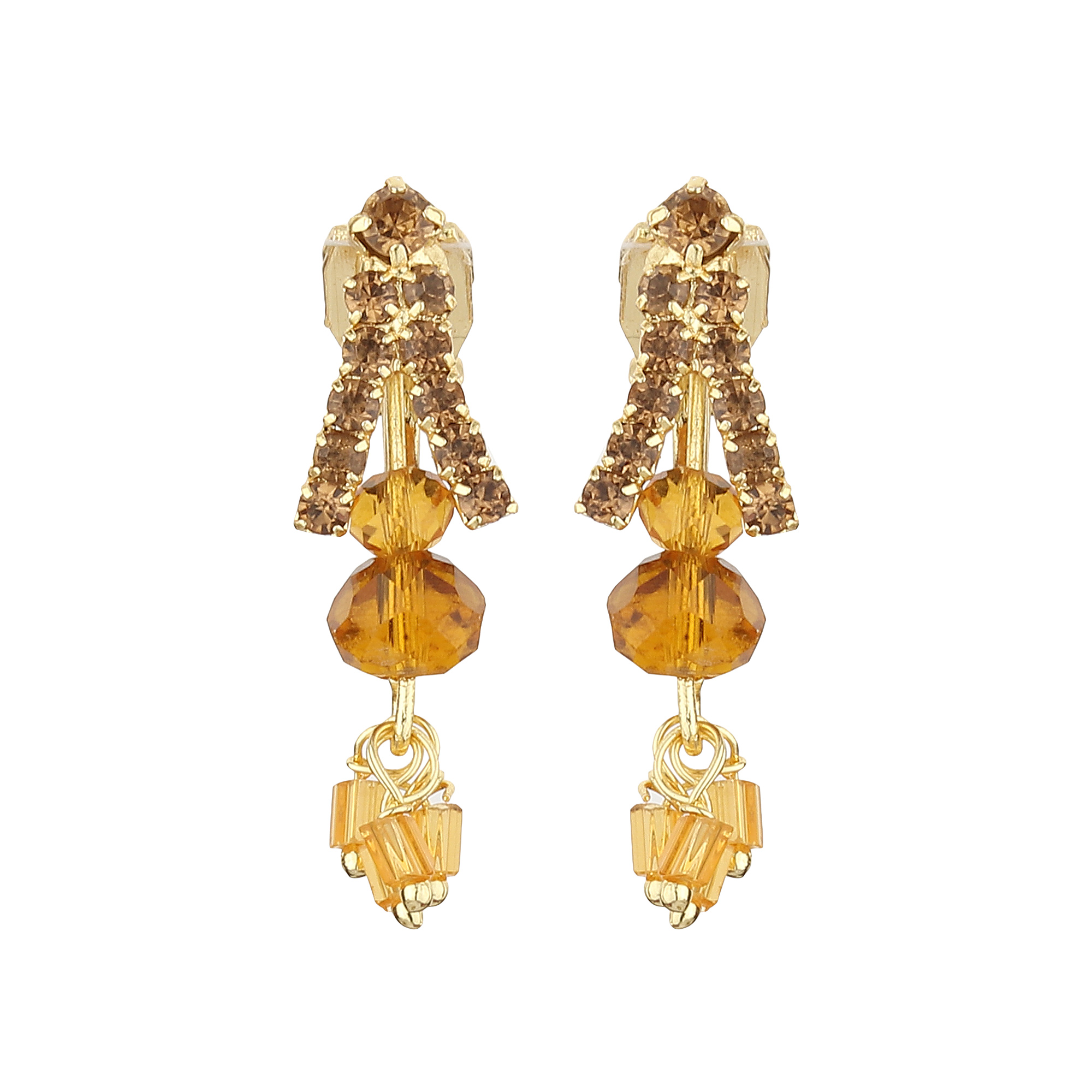 FirstBlush | FirstBlush Clip On Earrings for Non Piearced Ears for Women & Girls; Plating: Gold; Color: Gold; Size: 30 X 10mm; Wt.: 3gm. (MIEC104M147)
