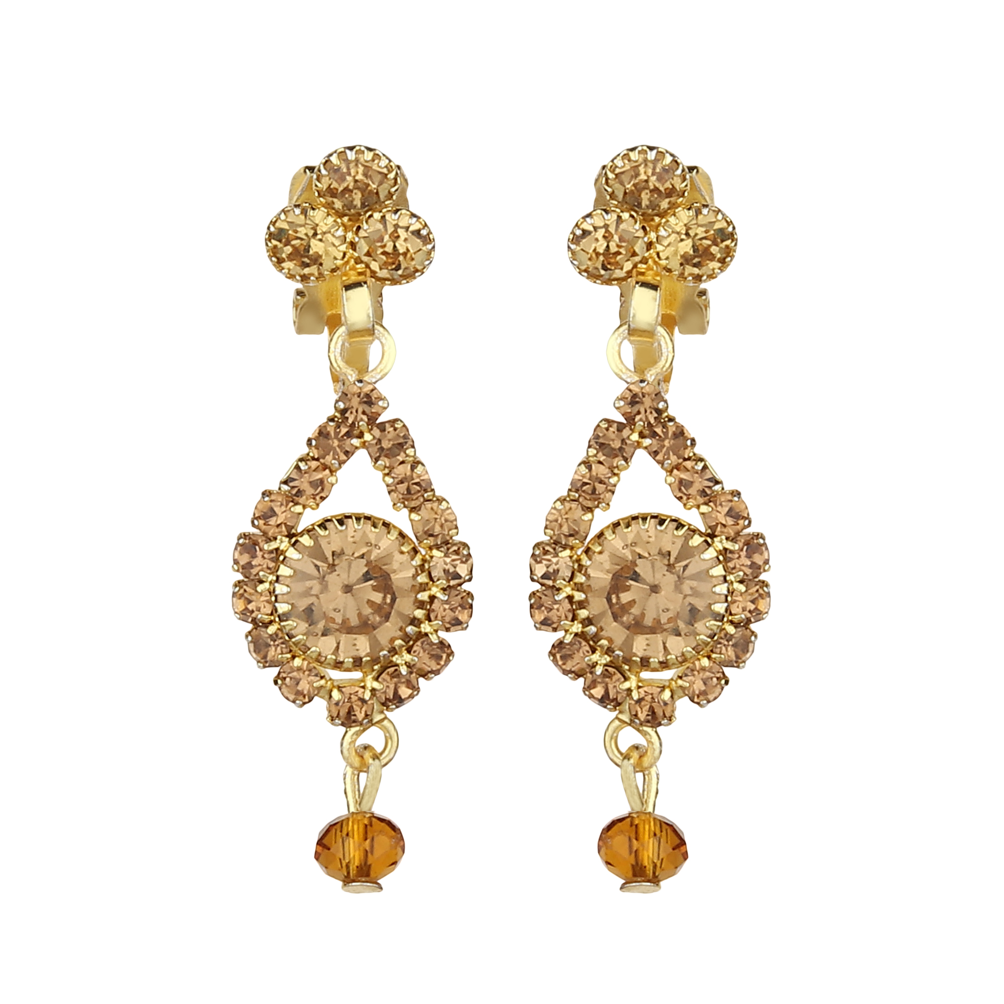 FirstBlush | FirstBlush Clip On Earrings for Non Piearced Ears for Women & Girls; Plating: Gold; Color: Gold; Size: 35 X 11mm; Wt.: 4gm. (MIEC104M173)
