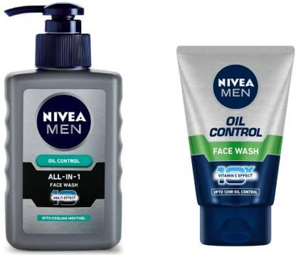 Nivea | NIVEA Men Oil Control All In One 150 ml & Oil Control 100 ml (Pack of 2)