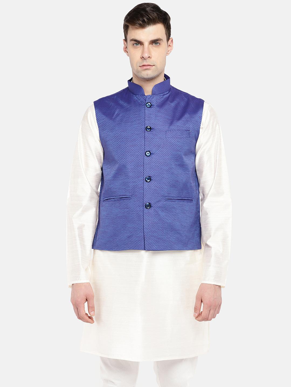 Ethnicity | Ethnicity Sleeveless Fashion Men Blue Jackets