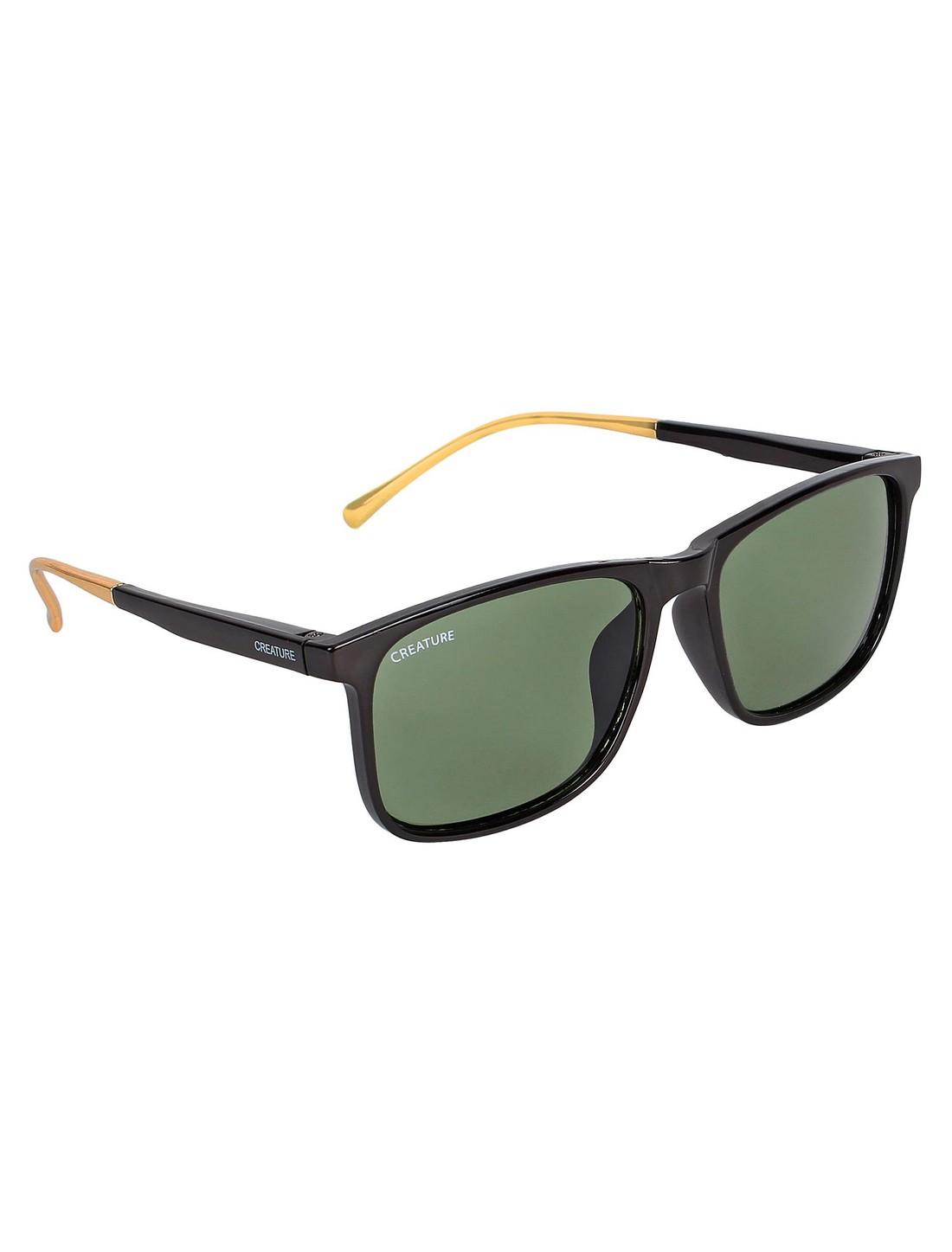 CREATURE   Creature Gloss Finish Rectangular UV Protected Unisex Sunglasses