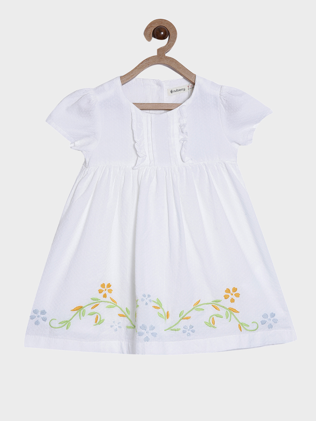 Nuberry | Nuberry Girls Pure Cotton Casual Knee Length & Half Sleeve Dress