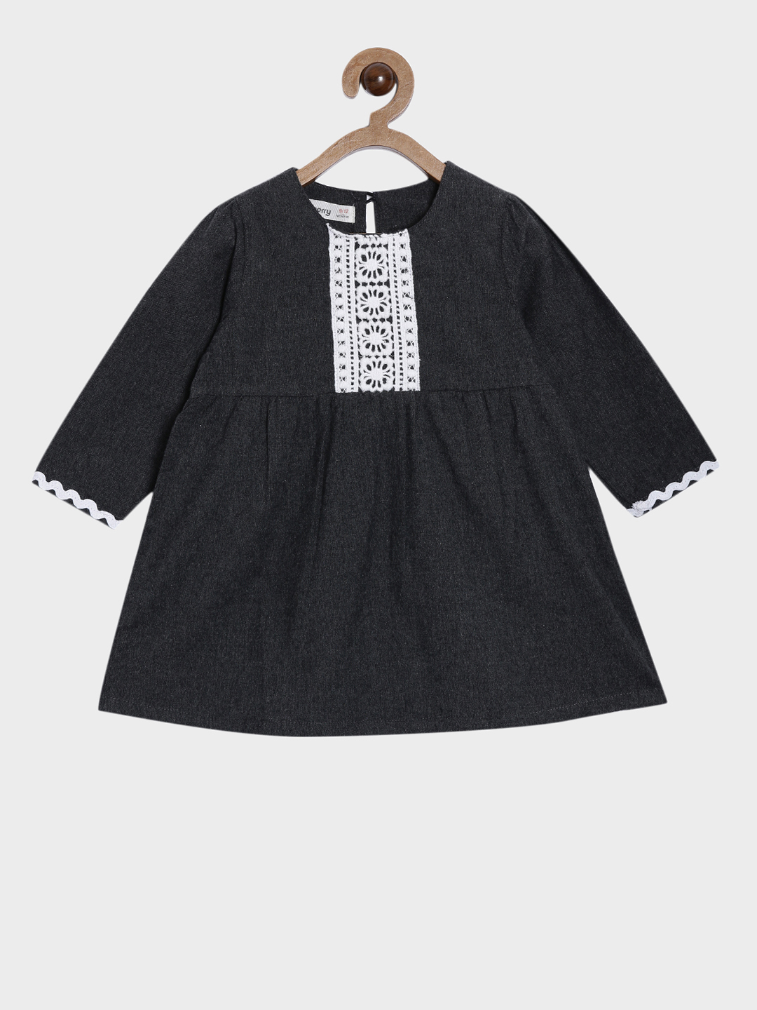 Nuberry | Nuberry Girls Pure Cotton Casual Midi & Three-Quarter Sleeves Dress