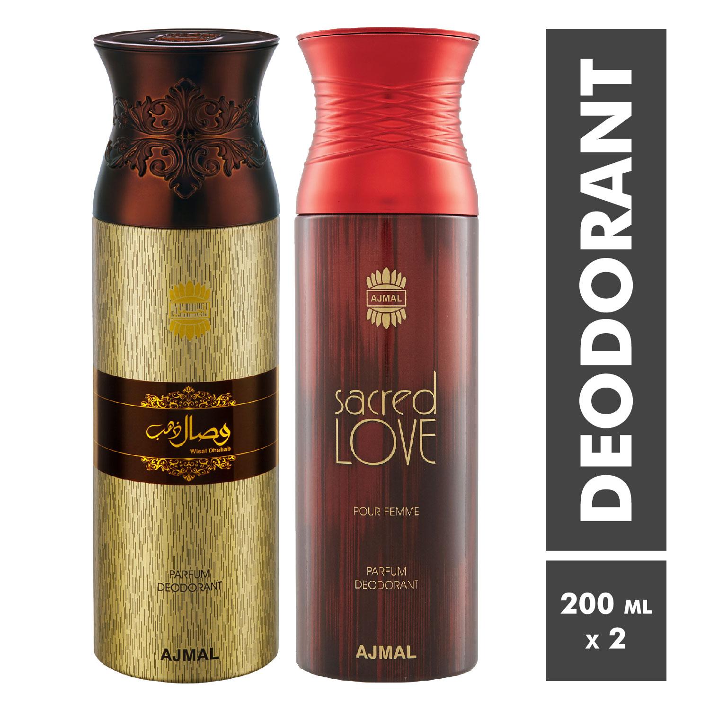 Ajmal | Wisal Dhahab and Sacred Love Deodorant Spray - Pack of 2