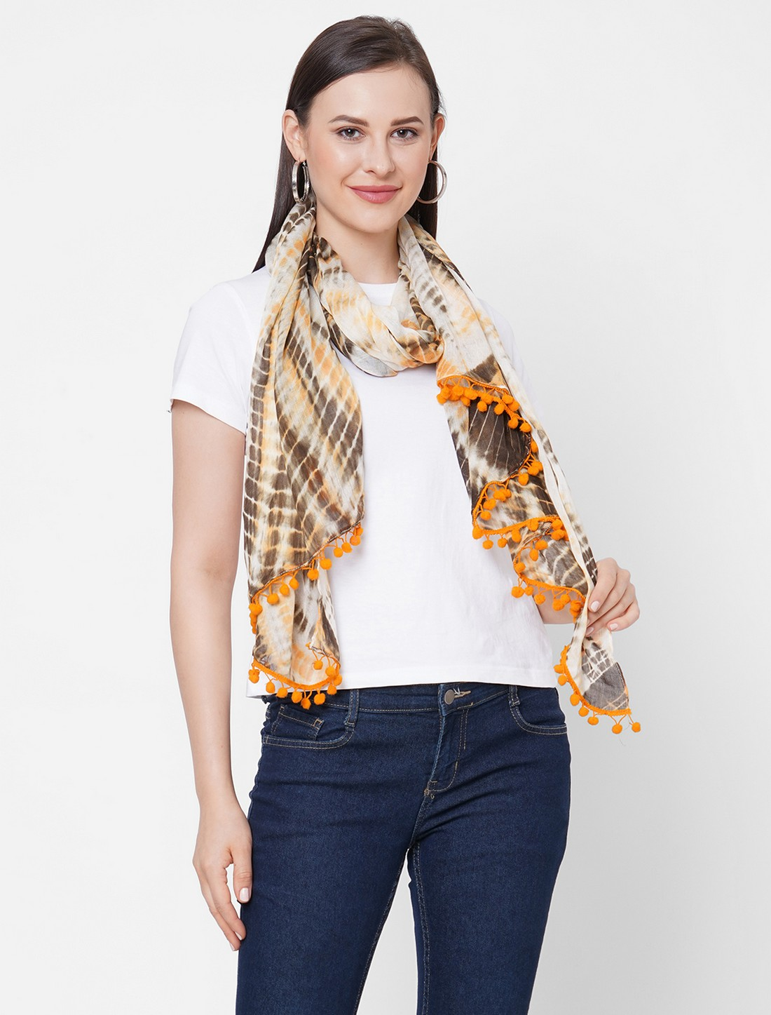 Get Wrapped | Get Wrapped Tie-Dye Large Scarves with Poms for Women