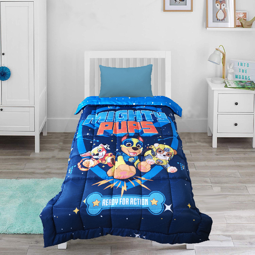 Mothercare   Wiggle Wink Paw Patrol Reversible 100% Cotton Baby Blanket