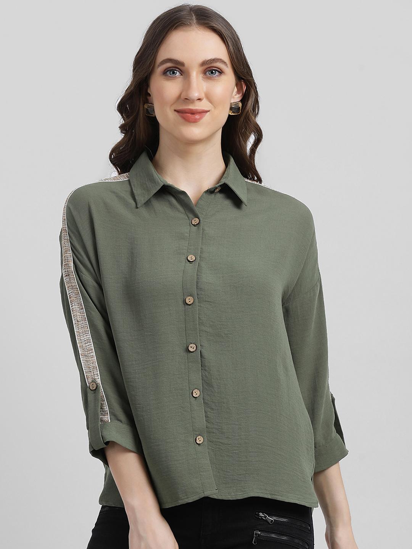 Zink London | Zink London Women's Green Solid Shirt